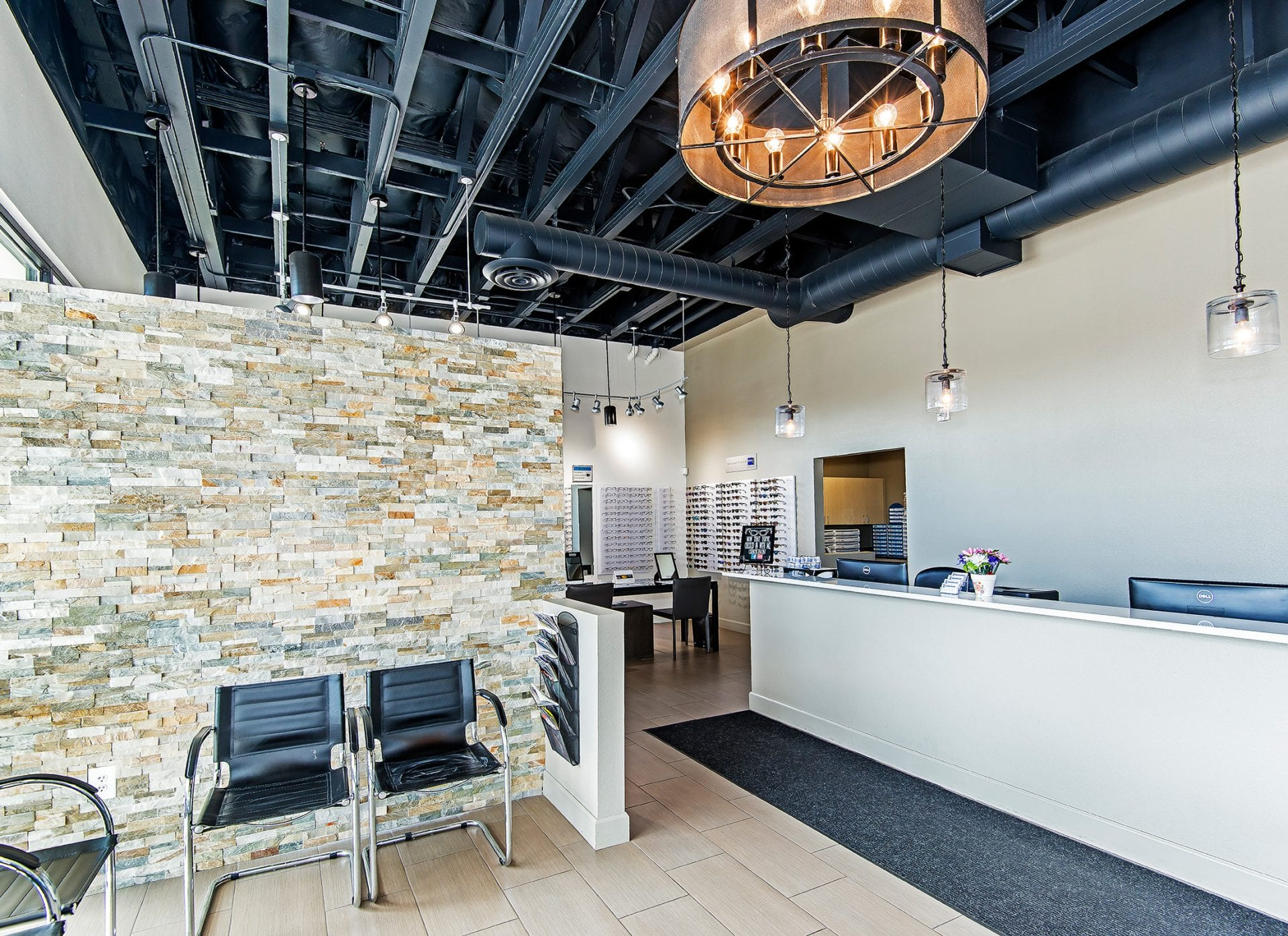 Pritchett Eye Care Front Desk and Waiting Area