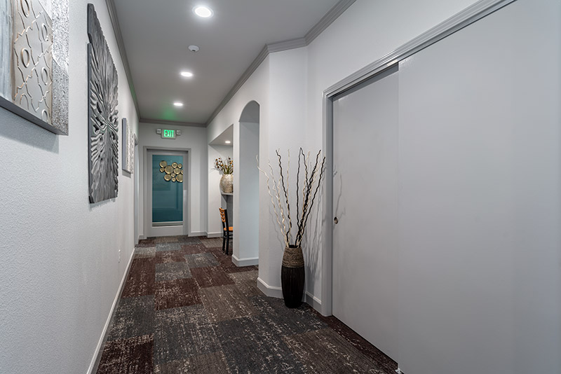 Stryker construction Well Beyond hallway