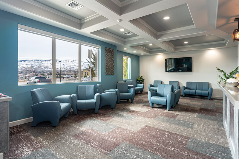 Stryker construction Well Beyond Dental Waiting Room