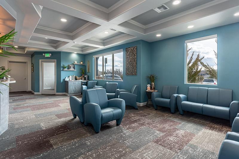 Stryker construction Well Beyond Dental Waiting Room